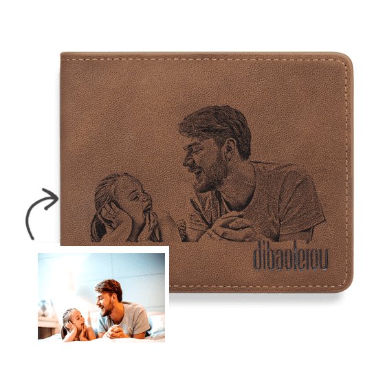 Custom Photo Wallet Best Gift For Father Love Dad Bifold Short Wallet