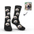 Personalised Dog Socks With Your Text - Black