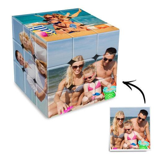 Family Photo Rubik's Cube Personalized 6 Pictures Magic Photo Cube