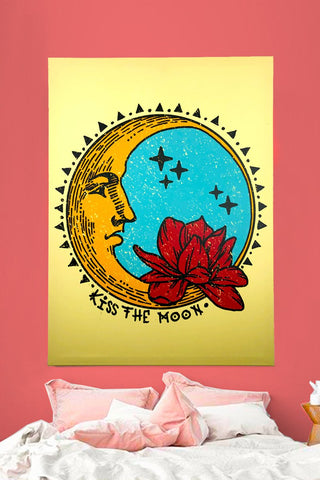 Kiss The Moon Art Canvas