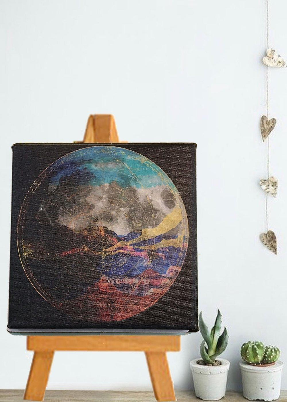Desert on the Moon Art Canvas - moon art canvas 3