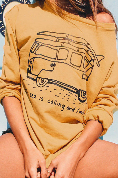 The Sea Is Calling Crewneck Sweatshirt