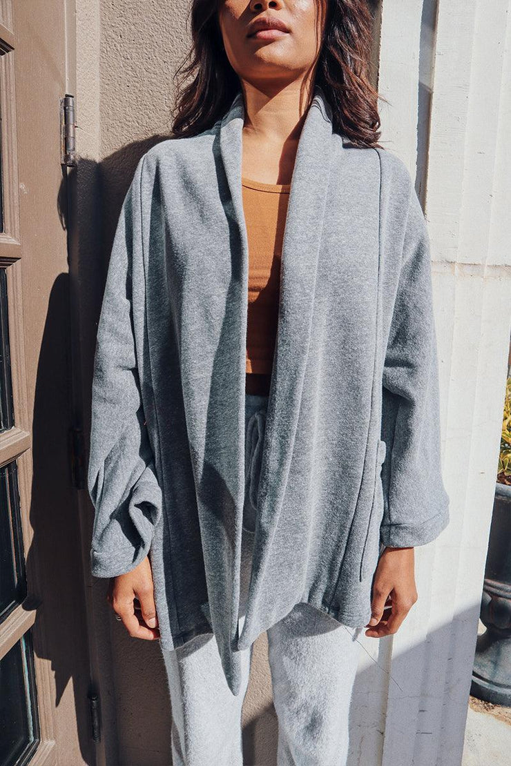 Grey Rumi Cardigan Jacket