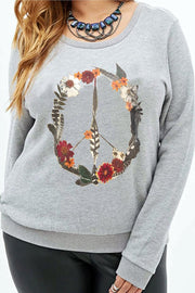 Peace Flower Weho Pullover