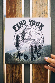 Find Your Road Art Canvas