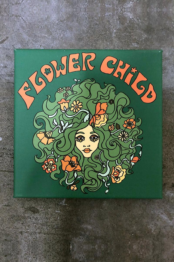 Power Flower Child Art Canvas