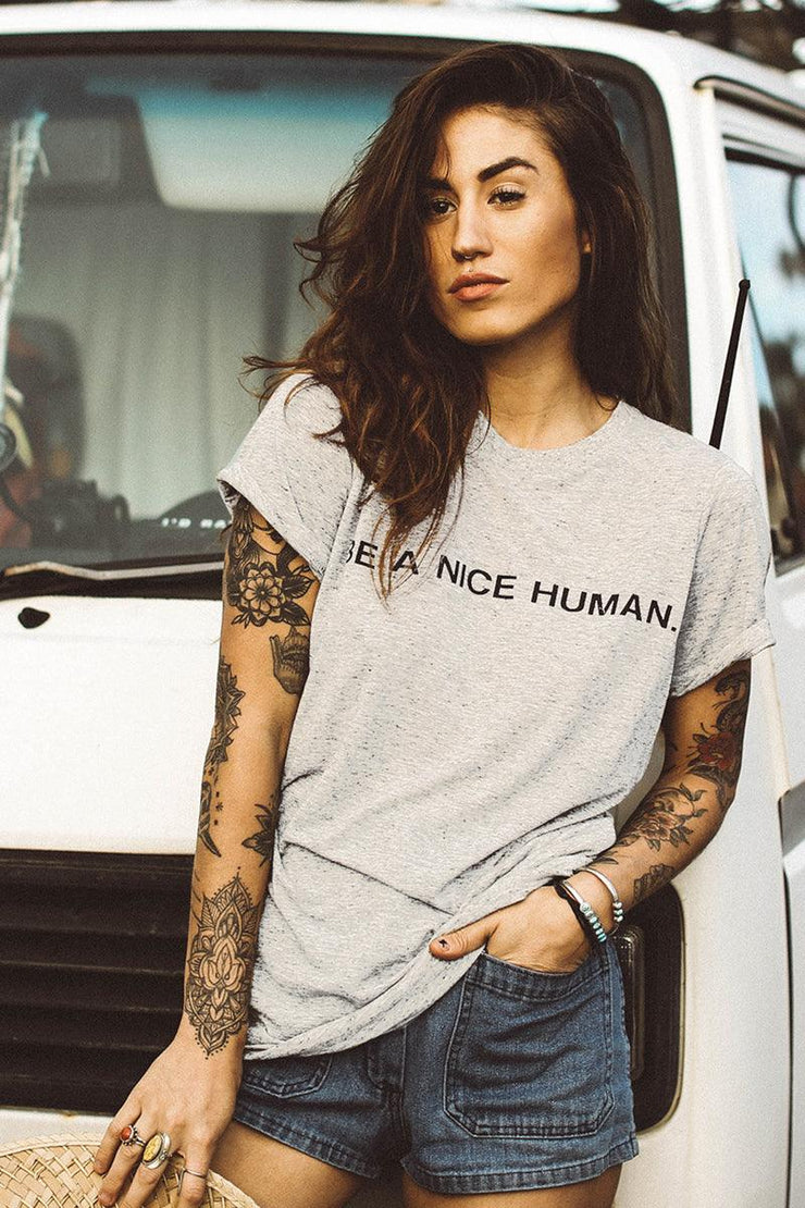 Be A Nice Human Maple Tee