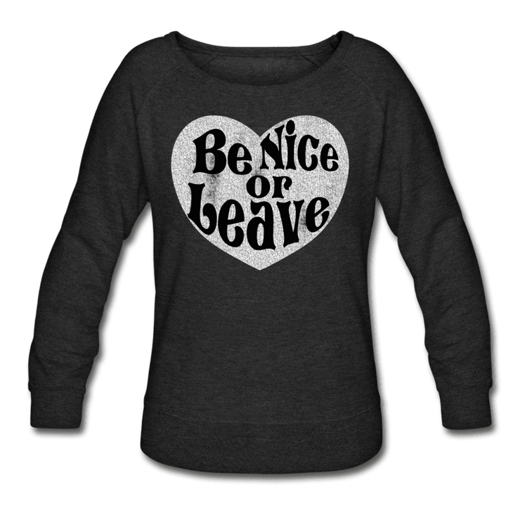 Be Nice Or Leave Beverly Sweatshirt - heather black