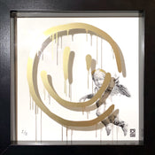 Smiley - Gold - Black Frame