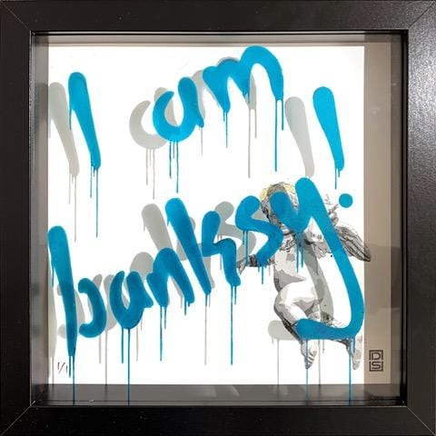 Glass Writer - I am Banksy (Electric Blue)