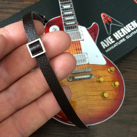 AXE HEAVEN® Mini Guitar Strap - Vintage Brown
