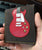 Red Single Cutaway Electric Guitar Wallet - Handmade from Genuine Leather
