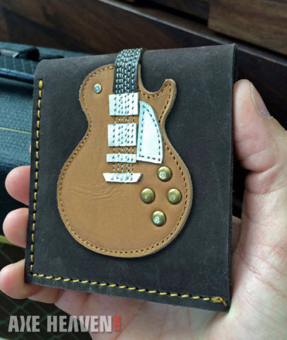 Honey Burst Single Cutaway Electric Guitar Wallet - Handmade from Genuine Leather