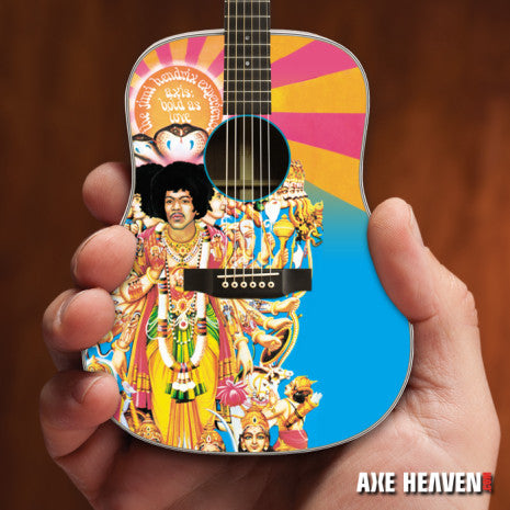 Officially Licensed Jimi Hendrix AXIS Bold As Love Mini Acoustic Guitar Model
