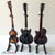 Classic Fab Four Set of 3 Classic Miniature Guitar Replica Collectibles