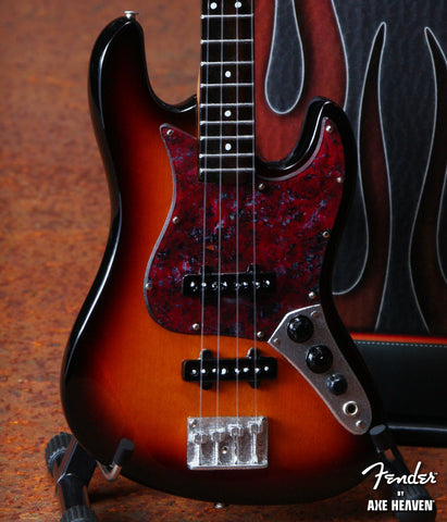 Fender™ Sunburst Jazz Bass™ Miniature Guitar Replica - Officially Licensed
