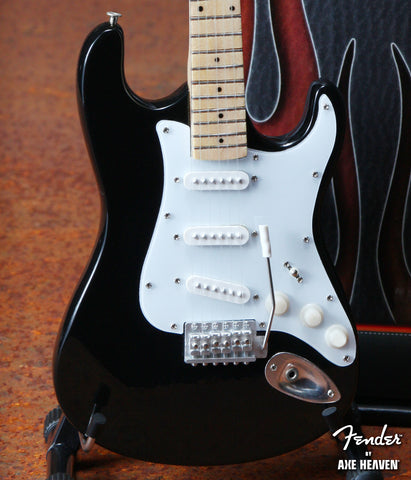 Black Fender™ Strat™ Classic Miniature Guitar Replica - Officially Licensed