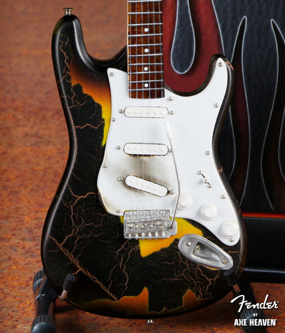 Burnt Fender™ Stratocaster™ Signature Miniature Guitar Replica - Officially Licensed