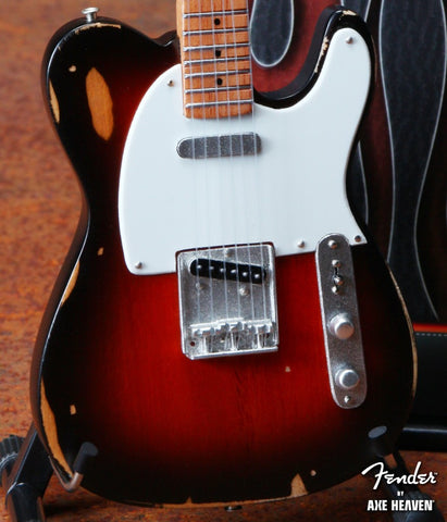 Fender™ Sunburst Road Worn™ Tele™  Mini Guitar Replica - Officially Licensed