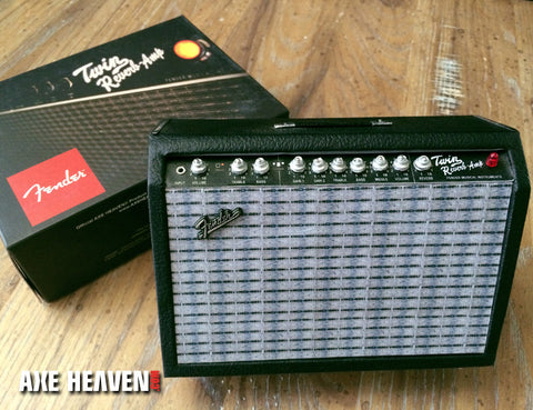 Miniature Fender Twin-Reverb Amplifier Model