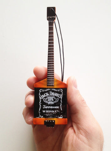 "Jack Daniel's Bass Guitar Ornament - 6"" Miniature Replica Collectible"