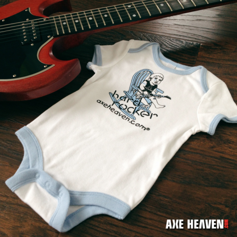 Hard Rocker Baby Onesie by AXE HEAVEN