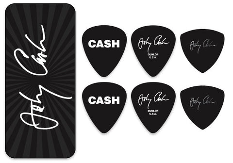 Johnny Cash Signature Pick Tin - w/ 6 Collector Picks