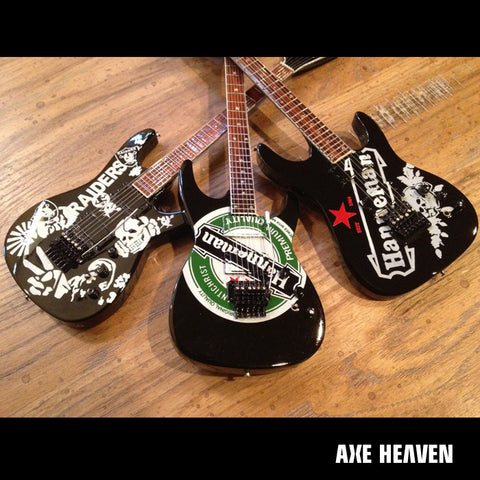 Jeff Hanneman Signature Tribute Set of 3 Mini Guitar Replica Collectibles