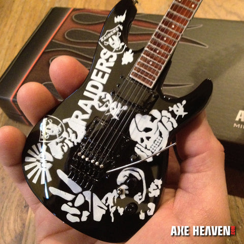 Jeff Hanneman Signature Raiders Tribute Mini Guitar Replica Collectible