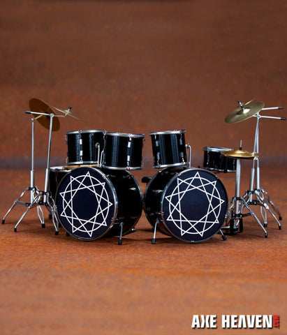 Joey Jordison Signature Slipknot Miniature Drum Set Replica Collectible