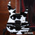 John Petrucci Black & White Picasso-Designed Miniature Guitar Replica Collectible