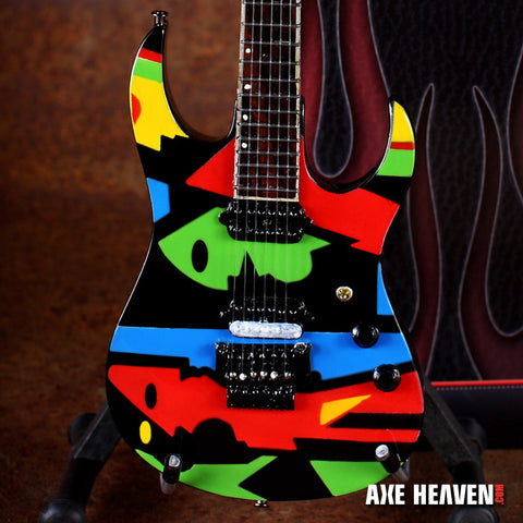 "John Petrucci "" Color Cubist"" Picasso-Designed Mini Guitar Replica Collectible"
