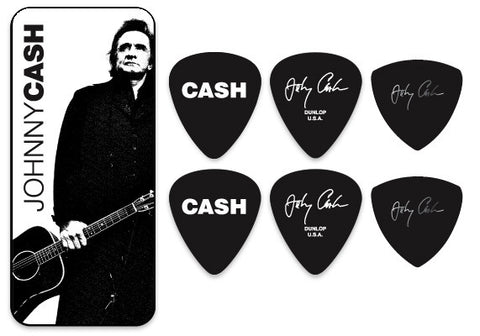 Johnny Cash Legend Pick Tin - w/ 6 Collector Picks