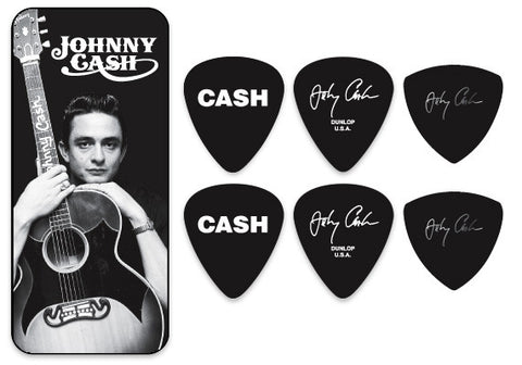 Johnny Cash Memphis Pick Tin - w/ 6 Collector Picks