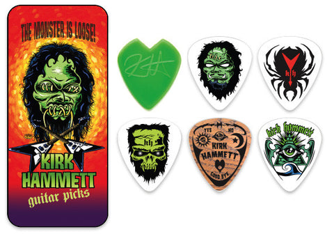 "Kirk Hammett Signature ""The Monster Is Loose"" Pick Tin"