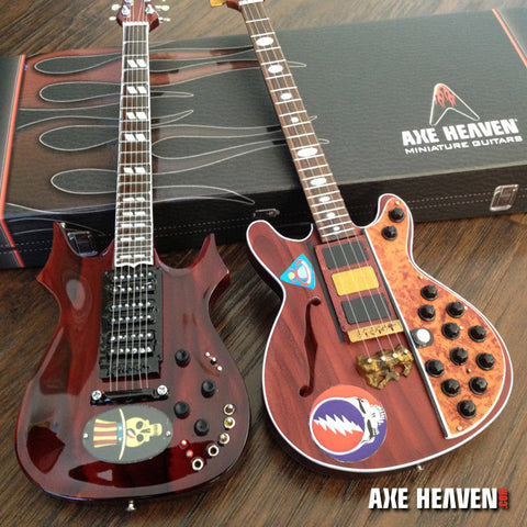 Jerry Garcia Top Hat & Phil Lesh Bass Mini Guitar Replica Collection