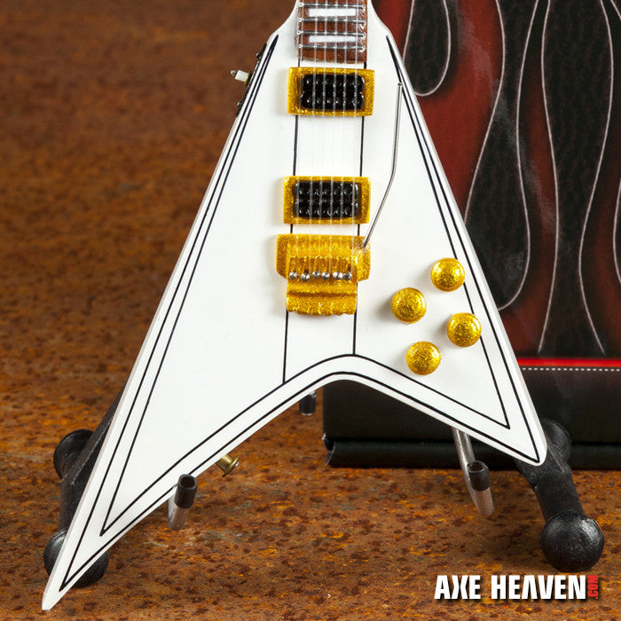 Randy Rhoads Signature White Flying V Miniature Guitar Replica Collectible  - FANMERCH™
