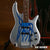 Robert Trujillo Metallica Blue Flame Miniature Bass Guitar Replica Collectible