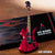 Slash Signature Red Stained Mockingbird Miniature Guitar Replica Collectible