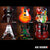 Classic Miniature Guitar Replica Collectible Set of 6 Famous Rock Star Models