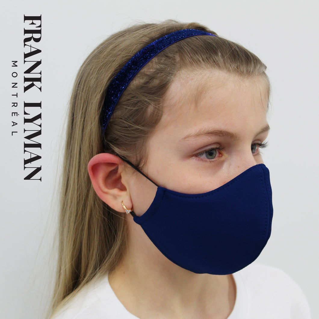 Unisex Kids Mask in Midnight Solid