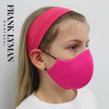 Load image into Gallery viewer, Unisex Kids Mask in Fuchsia Solid