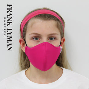 Unisex Kids Masks (Set of 2 in Fuchsia Solid)