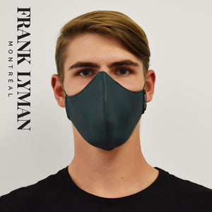 Unisex Adult Mask in Faux Leather Look Hunter Green Color