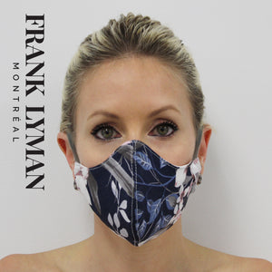 Unisex Adult Mask in Navy Pink Print