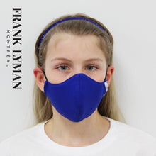 Load image into Gallery viewer, Unisex Kids Masks (Set of 2 in Blue Solid)