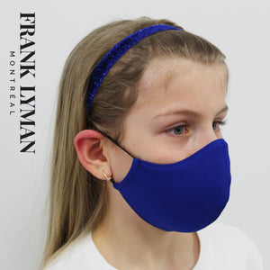 Unisex Kids Masks (Set of 2 in Blue Solid)