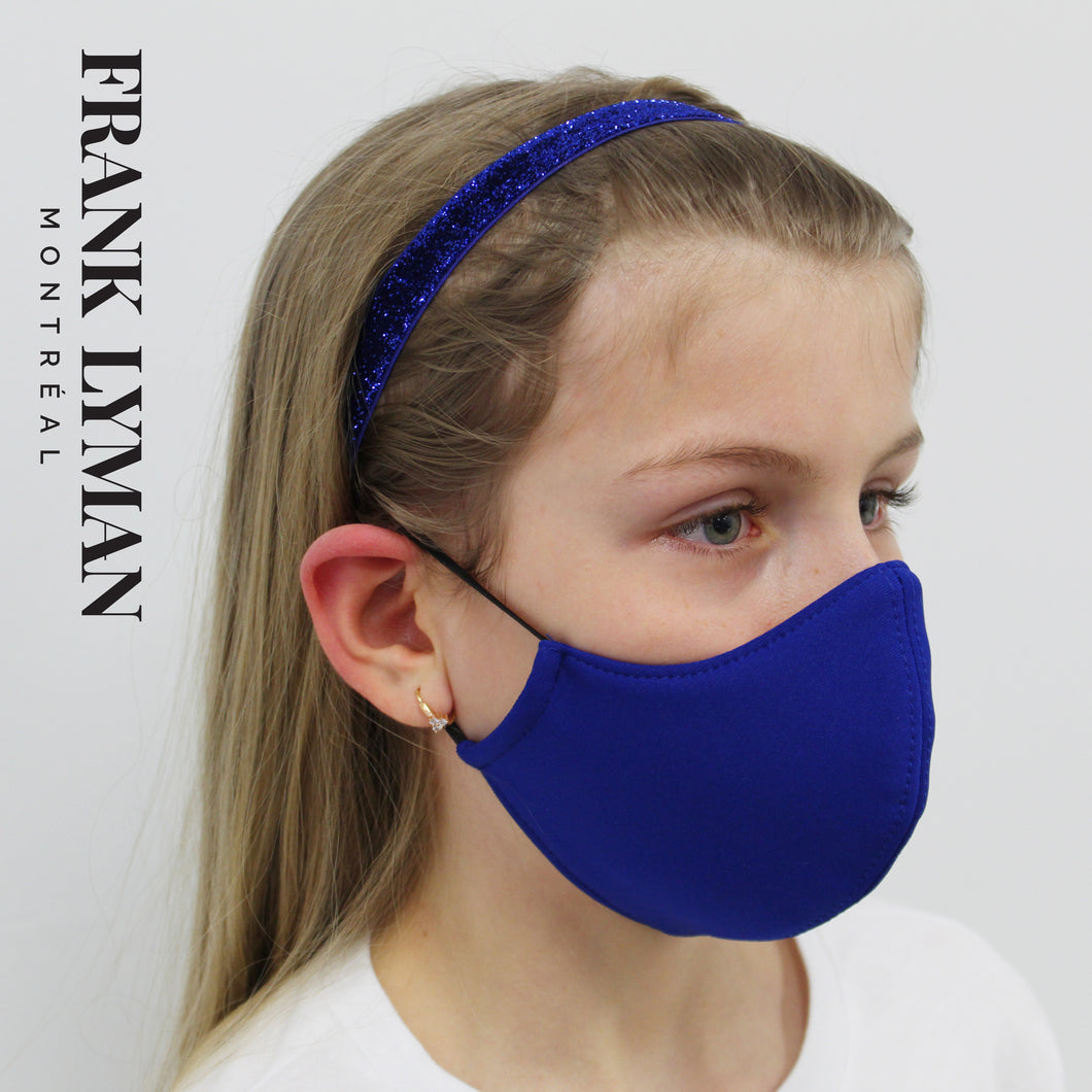 Unisex Kids Mask in Blue Solid