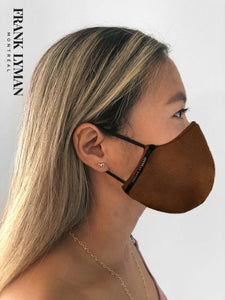 Unisex Adult Masks (Set of 2 in Faux Leather Look Camel Color)