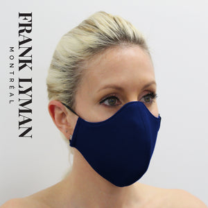 Unisex Adult Masks (Set of 2 in Navy Solid Color)